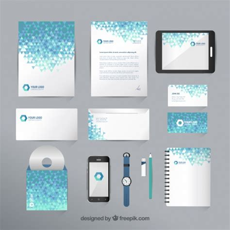printable geometric stationery geometric stationery collection vector free download