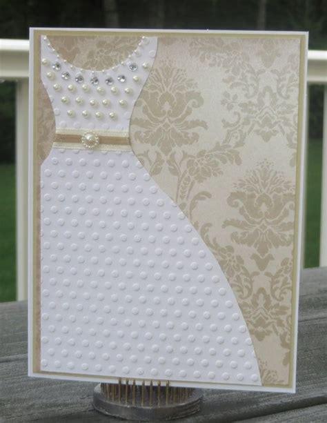 Handmade Bridal Shower Cards - bling wedding dress bridal shower wedding handmade card