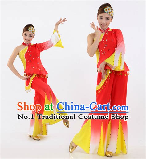 online store caam chinese dance theater korean fan dance costume complete set