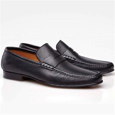 black loafers stemar sorrento deerskin loafers black
