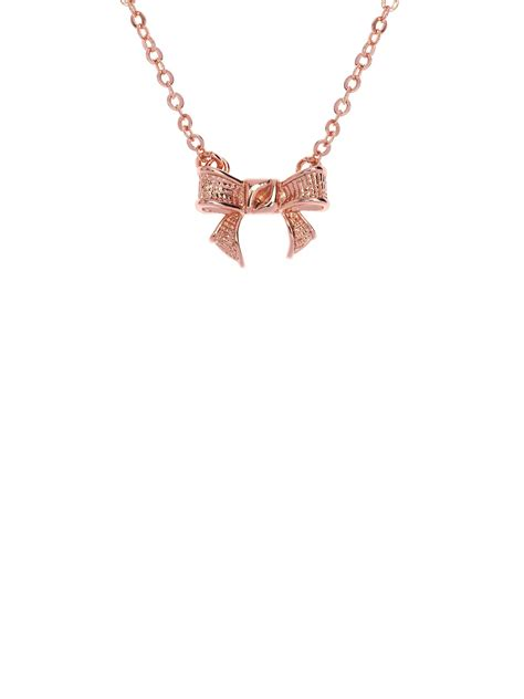 Ted Baker Necklace Bow Top by Ted Baker Gytta Gold Grosgrain Tiny Bow Pendant In