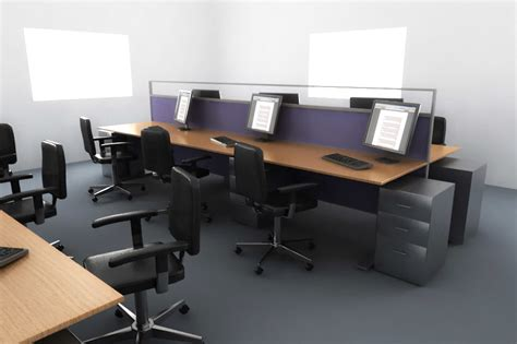 www office com setup desk office setup 3d model