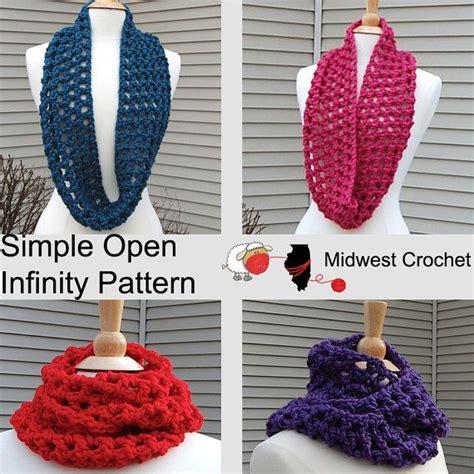 simple pattern infinity scarf easy crochet infinity scarf pattern crochet pattern in
