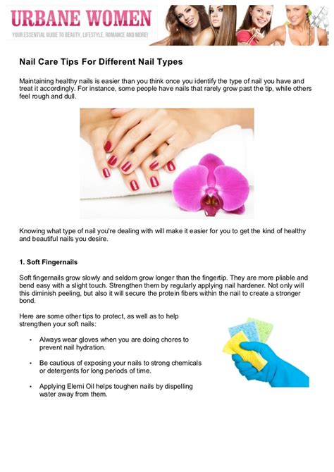 Nail Care Tips by Nail Care Tips For Different Nail Types