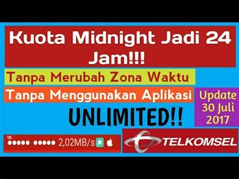 midnight dengan anonytune telkomsel cara mengubah kuota midnight telkomsel menjadi full 24 jam