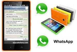 See whatsapp is instelled in your nokia x the latest whatsapp plus