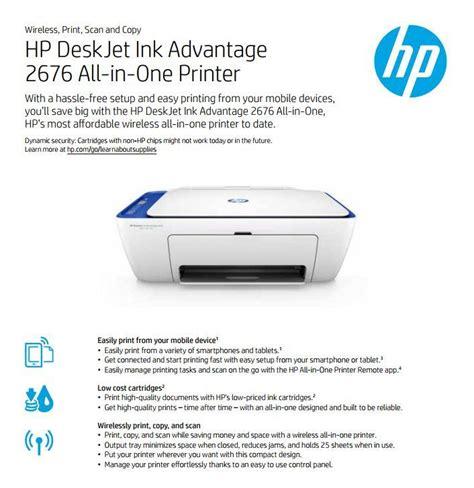 Hp Deskjet Ink Advantage All In One Printer K209a hp deskjet ink advantage 2676 all in one printer ink included lazada