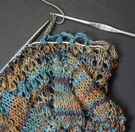 bind in knitting crochet bind using chain stitch to bind lace