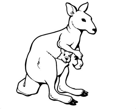 printable kangaroo template 19 kangaroo templates crafts colouring pages free