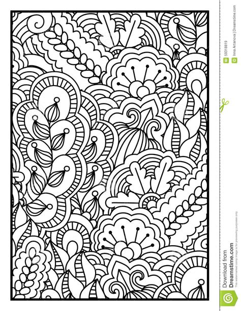 pattern vector color pattern for coloring book black and white background with