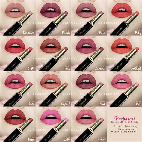 Lipstik Purbasari Color swatched purbasari color matte lipstick review lippielust