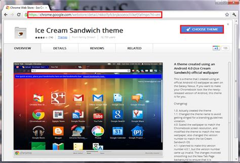 themes chrome browser ice cream sandwich theme for google chrome browser i