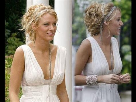gossip girl hairstyles youtube serena van der woodsen white party updo hair tutorial