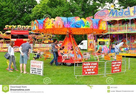 theme park nottingham carousel editorial photo
