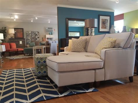 Blue Sofa White Piping by White Chaise Sofa With Navy Piping Blue And White Rug