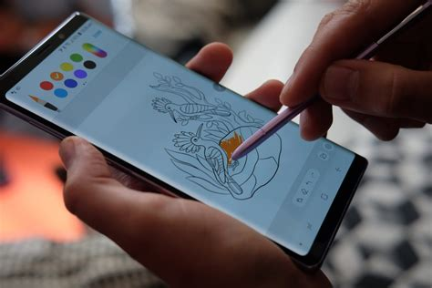 Note 9 Drawing by Samsung Galaxy Note 9 On Course To Outsell The S9