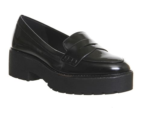 office black loafers office reaction chunky loafers in black lyst
