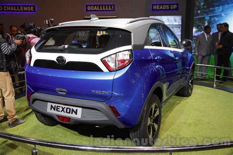 tata nexon rear quarters at auto expo 2016 indian autos blog