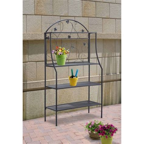 Bakers Rack For Plants by Mainstays Outdoor Baker S Rack And Plant Stand Black