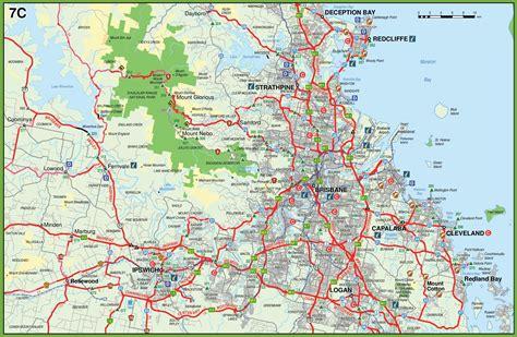 brisbane australia map map of surroundings of brisbane