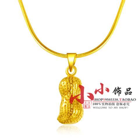 Kalung Rantai Liontin T1505104 rantai emas 24 k berlapis emas kalung wanita kacang emas aluvial kalung emas di liontin kalung