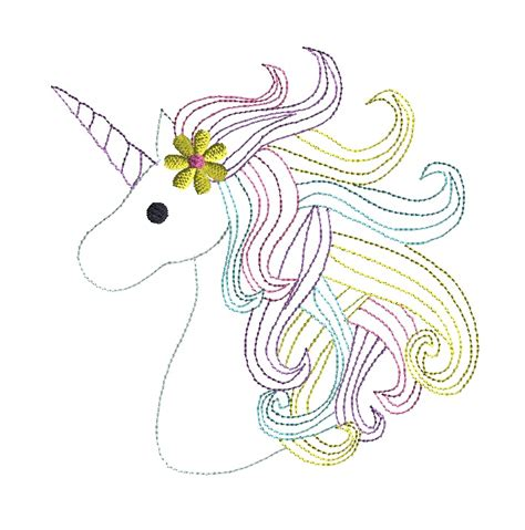 embroidery design unicorn unicorn head quick stitch machine embroidery design