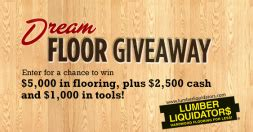 Who Won The Lumber Liquidators Sweepstakes - lumber liquidators dream floor giveaway sweepstakes win 5 000 in flooring more
