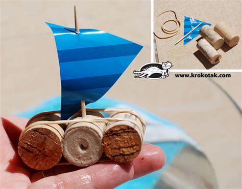 wine cork boat craft krokotak cork boat or homemade tempest