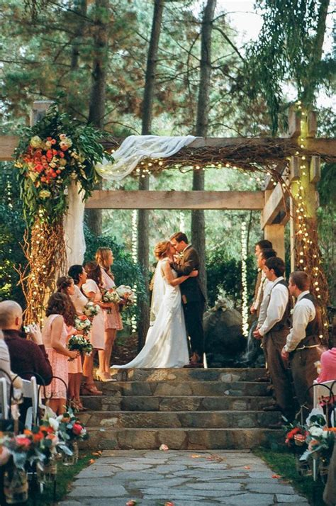 Outdoor Wedding Arbor by 36 Wood Wedding Arches Arbors And Altars Weddingomania