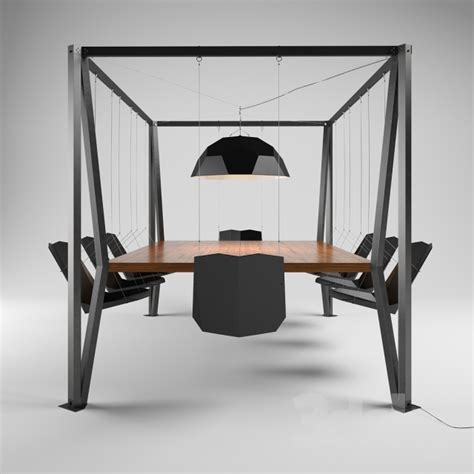 3d Models Table Chair Swing Table