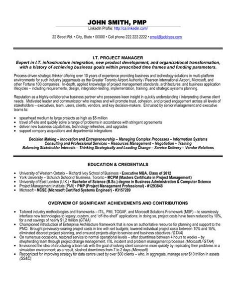 professional resumes senior project manager resume example download