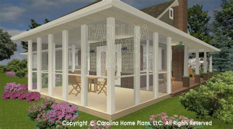 3d Images For Chp Sg 1152 Aa Small Brick Ranch Style 3d Ranch House Plans With Screened Porch