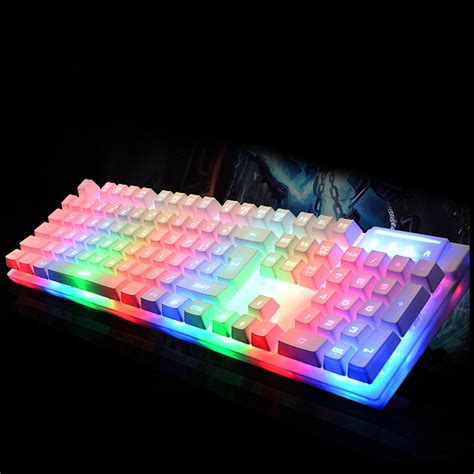 Gamemax K901 Mechanical Rainbow Backlight Keyboard vococal 104 wired led anti ghosting mechanical gaming keyboard backlit backlight for pc