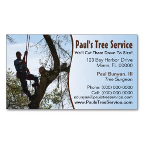 tree removal business card templates 6 best images of tree trimming business card template