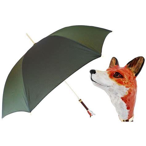 fox pattern umbrella pasotti ombrelli dark green luxury fox women s umbrella
