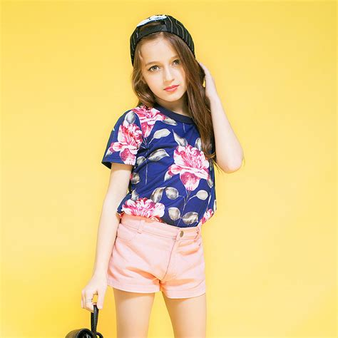 2016 summer design floral t shirt for