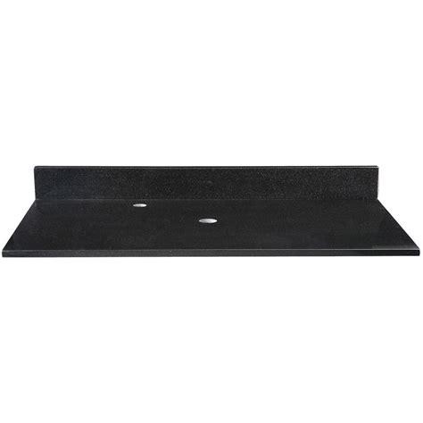 granite vanity tops without sink ryvyr 49 in granite vanity top in black without basin