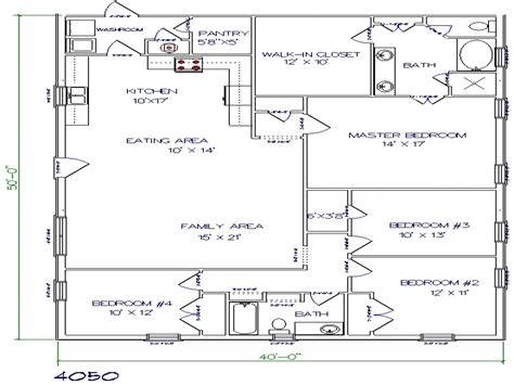 building plans for homes barndominium floor plans 40x50 metal building house