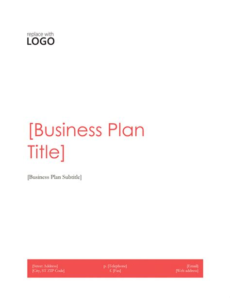 business plan templates microsoft business plan office templates