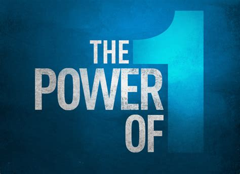 The Power Of One the power of one tomes dmsc linkedin
