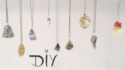 how to make jewelry with wire and stones diy wire wrapped pendant 3 ways