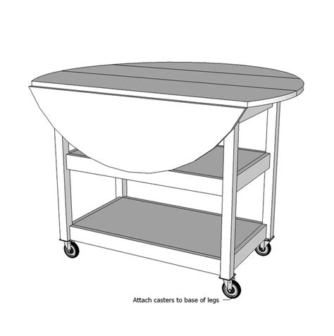 Drop Leaf Kitchen Table Plans White Build A Drop Leaf Storage Table Free And Easy Diy Project And Furniture