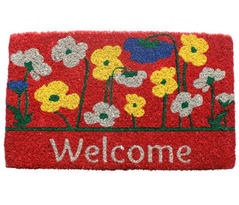 Flower Doormat - door mat flower outdoor floor home decor room patio