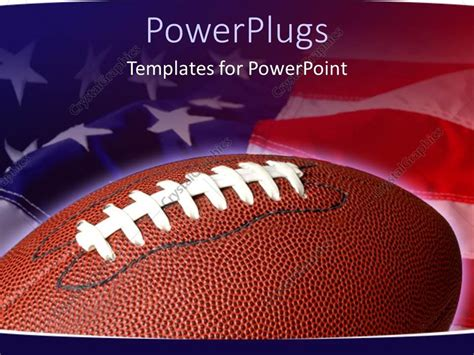 football themed powerpoint 2007 powerpoint template sports theme with football on waving