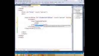 template field in asp net asp net web form tutorial templatefield in gridview