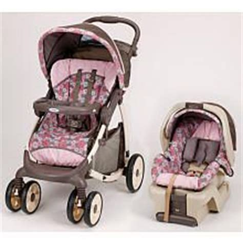 graco car seat pink flowers graco stylus quot posie quot seat brown stroller pink