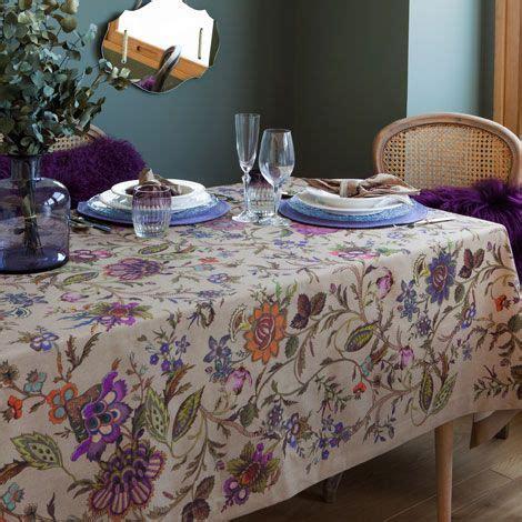 tischdecken zara home tischdecke und serviette mit gartenprint tischdecken