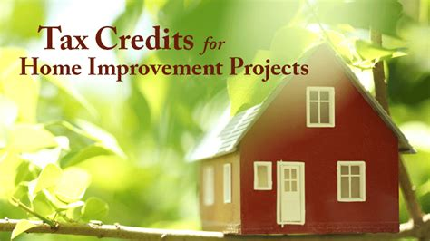tax credits available for home improvement projects