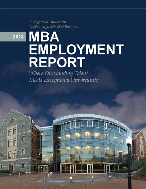 Georgetown Mba Admissions Login by 2013 Mba Employment Report By Georgetown