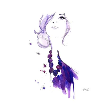 fashion illustration watercolour watercolor fashion illustration floating print